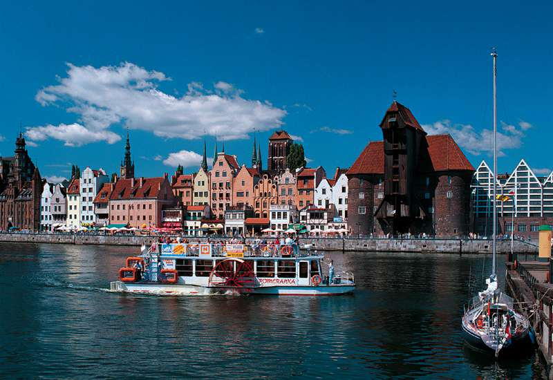 Old Town over Motława River